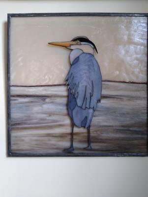 "Heron #1 - 12 1/4"" x 12 1/4"""