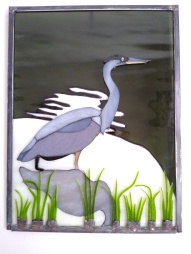 glass Christas Heron